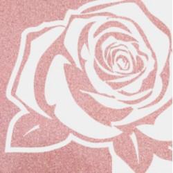 Rose gold glitter vinyl