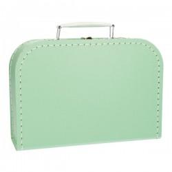 Mintgroene koffer 25cm