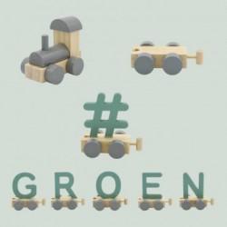 Treinletters groen