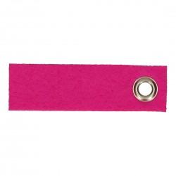Vilten sleutelhanger hard roze
