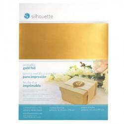 Printbare Stickerfolie goud