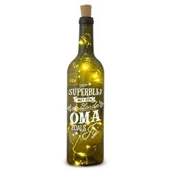 Wijnfles met lichtjes OMA