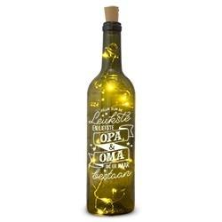 Wijnfles met lichtjes oma &...