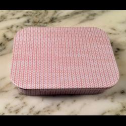 Metalen schuifdoos roze/wit