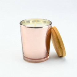 Kaars rosé goud glas met...