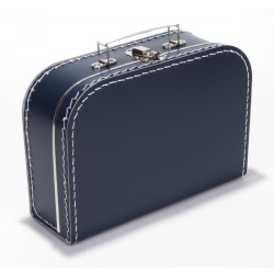 Donkerblauwe koffer 25cm