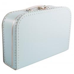 Lichtblauwe koffer 25cm